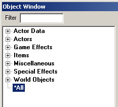 The Object Window w/collapsed list.